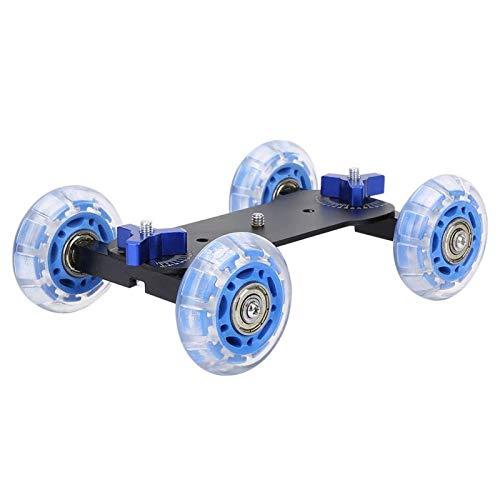Dolly Skater-Mini Desktop 10KG Carril de Carga Roller Track Slider Dolly Skater Car para cámara DSLR Videocámara