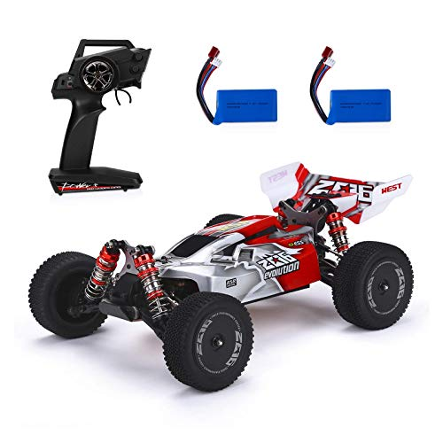 Powerextra Remote Control Car, 1:14 Scale 60+ KMH High Speed RC Cars, 4WD 2.4GHz Off Road Trucks Toys, All Terrain...