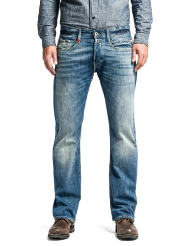 Replay Herren Boot-Cut Jeans Billstrong, Gr. W31/L34 (Herstellergröße: 31), Blau (Blue Denim)