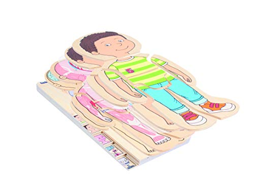 Beleduc 17170 - Lagen-Puzzle Dein Körper Junge, Extra Folie mit Darstellung des Blutkreislaufes, Bewährt im Kindergarten