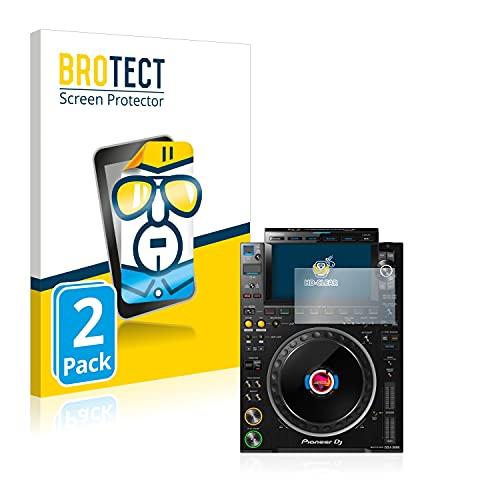 BROTECT Schutzfolie kompatibel mit Pioneer CDJ 3000 (2 Stück) klare Bildschirmschutz-Folie
