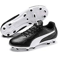 PUMA Monarch FG JR, Zapatillas de fútbol Unisex niños, Negro Black White, 37 EU