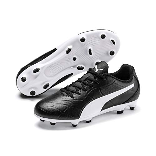 PUMA Unisex-Kinder Monarch FG Jr Botas de fútbol, Black White, 36 EU