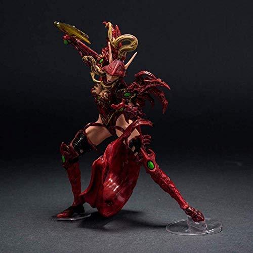 KIJIGHG Anime World of Warcraft Personaje Elfo de Sangre. Estatua del nigromante Figura de Anime Figuras de accin Modelo de Personaje de Anime