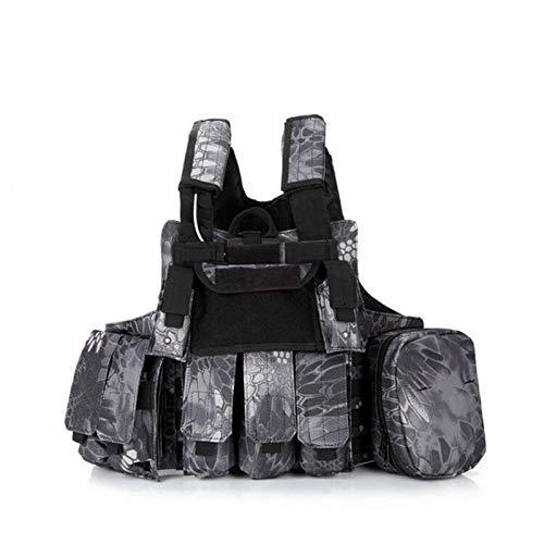 QWERBAM 11 Couleur Armée Fans CS Champ Camo Gear Gilet Tactique Hommes Femmes Formation Au Combat Camping Chasse en Plein Air Protéger Gilet Militaire Fashion Adjustable (Color : 4, Size : One Size)