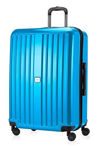 CAPITAL DE CASO - X Mountain - caso duro de caja de la carretilla maleta trolley, 75 cm, 126 litros, TSA, cian