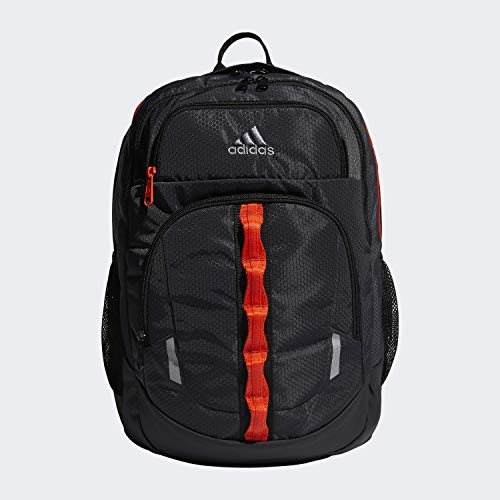adidas Unisex Prime Backpack, Carbon/ Grey/ Active Orange/ Black, ONE SIZE