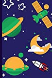 Outer Space Notebook: Smooth Design Small Lined Notebook for Kids, Boys, Girls, Men, Women ~ 120 Pages 6' x 9'