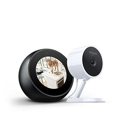 Echo Spot  Black  Amazon Cloud Cam Security Camera Bundle
