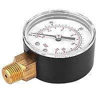 圧力計、圧力テストゲージ 1/4 BSPT ガス用 空気用 油用 燃料用 水用(0-30psi 0-2bar)