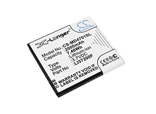CS-MD4701SL Akku 2000mAh Kompatibel mit [MEDION] Life X4701, MD 98272, Smartphone X4701 Ersetzt LI37200F