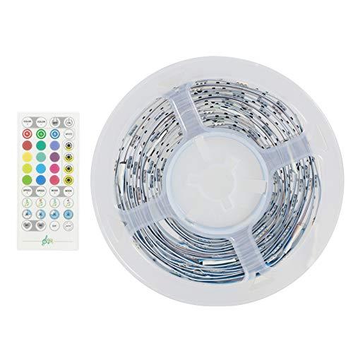 Tira de luces, control de sonido, tira de luz, control de sonido wifi inteligente, aplicación de fuente de alimentación USB, control de teléfono móvil para dormitorio, sala de estar, TV,