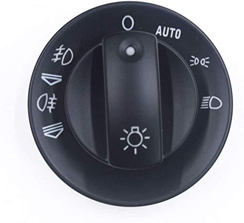 Con botón de la cubierta del interruptor de luz antiniebla para Audi A4 S4 RS4 B6 B7 /Fit For Quattro 8E0941531B 8E0 941 531B (negro)