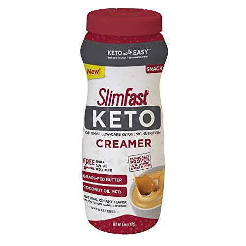SlimFast Keto Ketogenic Creamer, 6.6oz, 15 Servings