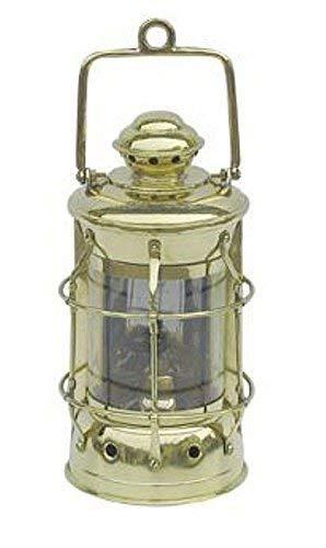 linoows Nelson Lampe, Maritime Lampe, Petroleum Lampe, Schiffslaterne Messing