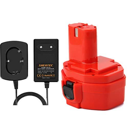 Shentec 14.4V 3.5Ah Ni-MH Batería Con Cargador para Makita PA14 1420 1422 1433 1434 1435 1435F 192600-1 193985-8 192699 193157-5 193158-3