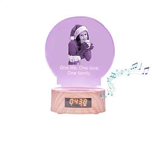 7 Farbbild Kristall Bluetooth Lampe Leuchtende Musik Nachtlicht mit Namen Personalisierte Weihnachtsfeier Ideen