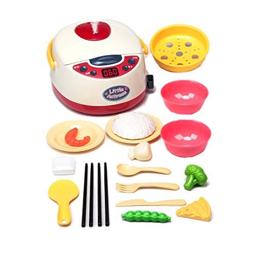 Juguetes de cocina, juego de juguetes Happy Little Chef pretends to Play with Toys, utensilios de cocina para niños, cocina para bebés (color: rojo)