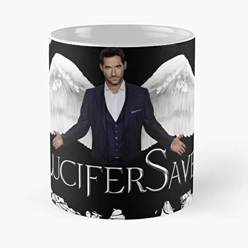 Ellis Lucifer Morningstar Tom Wings Devil Saved Lucifersaved Best 11 Ounce Ceramic Coffee Mug Best 11 oz Kaffeebecher - Nespresso Tassen Kaffee Motive !