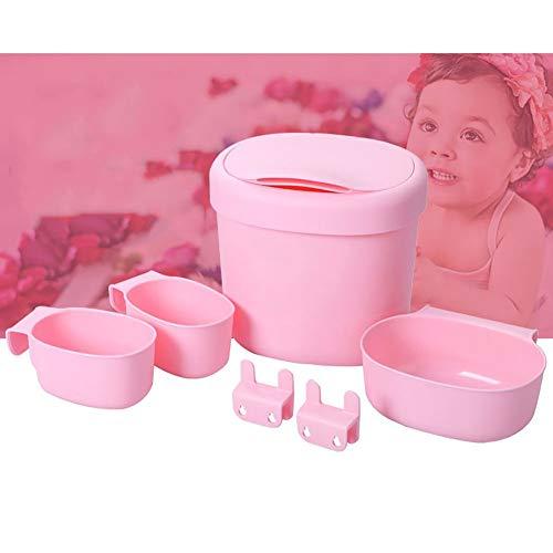 Baby Windel Caddy Windeltisch Lagerung Massagewanne Ablagekorb Aufbewahrungskorb Aufbewahrungsbox 6-teiliges Set,Pink