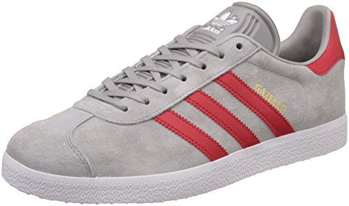 adidas adidas Herren Gazelle Sneaker, Grau (MGH Solid Grey/Scarlet/FTWR White), 39 1/3 EU