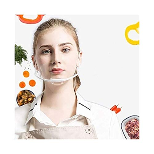 North cool Herramienta del Cuidado Médico 10pcs Máscaras Transparentes Conjunto Permanente Anti Niebla Catering Food Hotel Plástico Máscaras Kitchen (Color : Transparent)