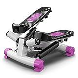 AWJ Doppelübung Stepper Übungs-Treppen-Auf-Ab-Stepper Für Anfänger Stepper-Mini-Stepper-Schrittzähler, Übungs-Step-Machine Aerobic Fitness Stepper Ropes Workout,Lila