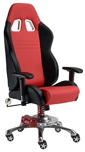 Pitstop Furniture GP1000R GT Office Chair, Red