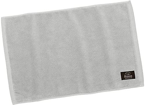 hiorie(ヒオリエ) 日本製 バスマット 制菌防臭加工 ホテルスタイル ライトグレー 瞬間吸水 今治製 洗える 足ふき