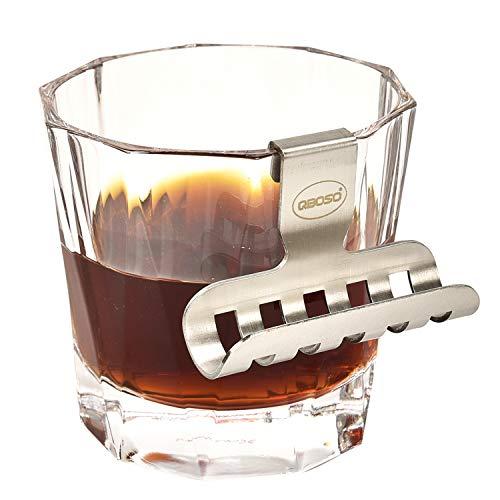 Whisky Glass Cigar Holder QBOSO Portable Cigar Holder With Hollow-carved Design, Whisky Glass-Mate on theBar Countertop,Make Your Drinking and Smoking more Enjoyable
