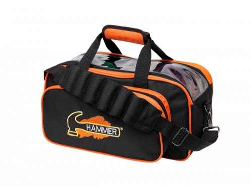 Hammer Double Bowling Ball Tote, Black/Orange