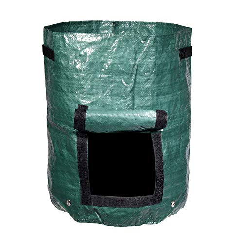 Find Bargain AloPW Yard Waste Bags Green 60L Garden Composter Bin Grow Bag Eco Friendly Organic Comp...