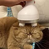 Loveble Cat Pet Electric Scalp Massager for Hair Growth Blood Circulation, Cat Massager Automatic Machine, 4 Heads with 76 Nodes