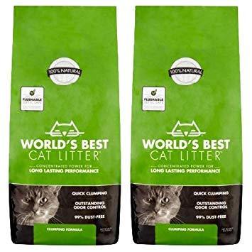 World's Best Cat Litter Clumping Formula 28-Pound Bag - 2 Pack