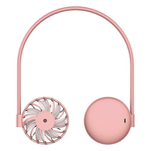 Hanging Neck Fan, Mini Portable Fan, USB Rechargeable Neckband Fan, Hands Free Neck Fan for Sports Travel Office