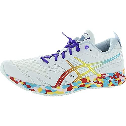 ASICS Women's Gel-Noosa Tri 12 Running Shoes, 9, White/Classic RED