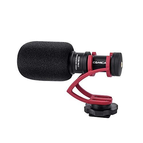 COMICA CVM-VM10II Mini Video Camera Compatta Compact Camera Microfono Direzionale con Shock Mount per Smartphone IPHONE DJI OSMO Microcamera Sony A7RII A7 Panasonic GH4 GH5 (rosso)