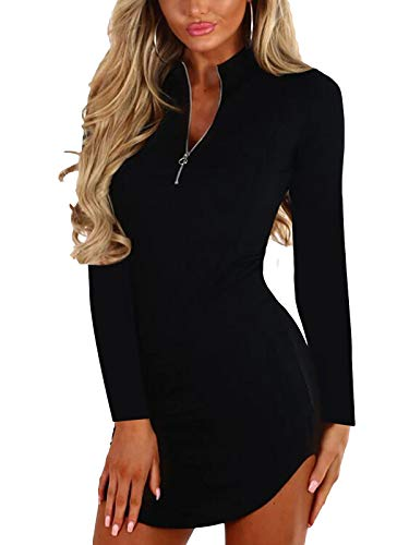 YOINS Seksowna damska bluzka krótka, letnia sukienka z dekoltem w kształcie litery V, czarna, damska, elegancka, jednokolorowa, wieczorowa sukienka na imprezę