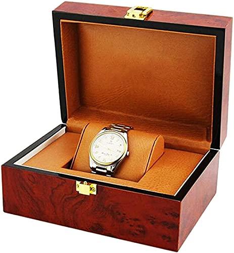 XQMY Regalo Cerrado del escaparate de la Caja de presentación del Almacenamiento del Reloj de la joyería