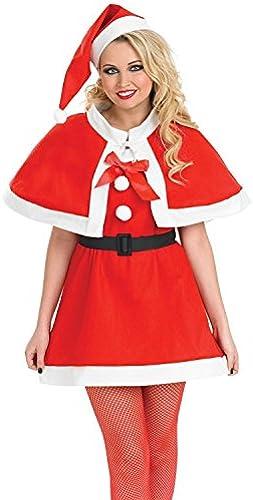 Christmas Cutie Female Fancy Dress Costume & Hat - M (UK 12-14)