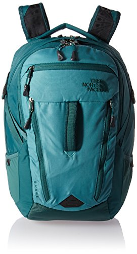 The North Face Women's Surge Backpack Bristol Blue/Jasper Green One Size