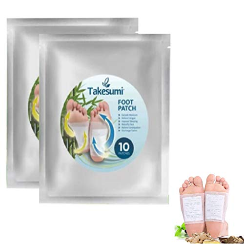 20 pcs Aromatic Herbal Foot Patch Called The Takesumi, Nuubu Foot Patches Detox, For Foot Care Removing Impurities Relieve Stress Improve Sleep