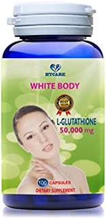 WHITE BODY - L-Glutathione 1500 mg PURE 100% - NATURAL SKIN LIGHTENING PILLS - Support Whitening skin for women and men - 100 days supply