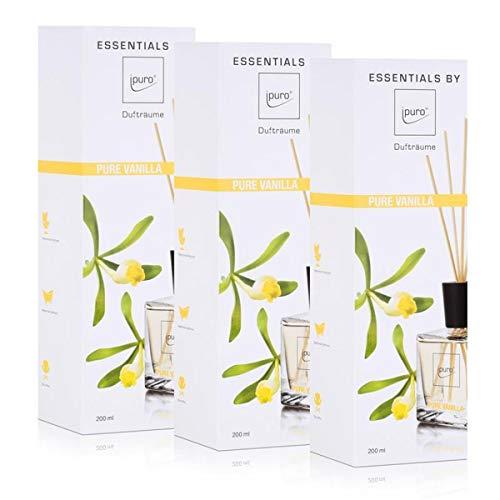Essentials by Ipuro pure vanilla 200ml Raumduft Dufträume (3er Pack)