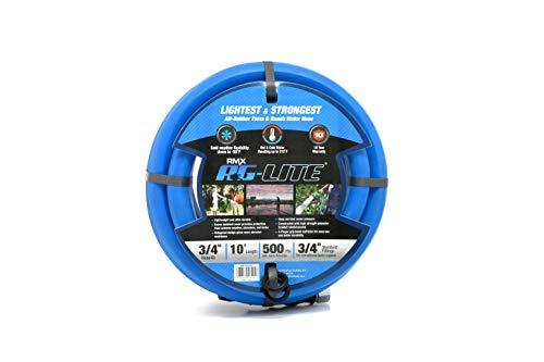 BluBird AG-Lite Rubber Hot & Cold Water Rubber Garden Hose: Ultra-Light & Super Strong  (3/4' x 10')  - BSAL3410