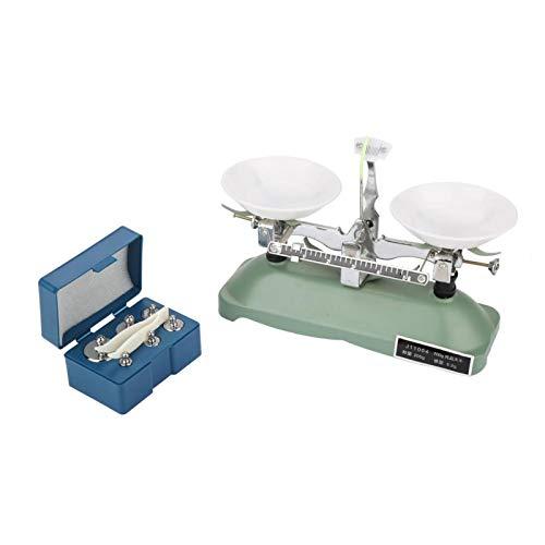 Báscula de equilibrio, 200 g/0,2 g, balanza de bandeja mecánica con pesas, herramienta de enseñanza de laboratorio de física química para escuela de laboratorio