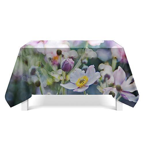 DREAMING-Ästhetische Pflanzenstoff Tischdecke Home Esstisch Stoff Tv-Schrank Couchtisch Stoff Runde Tisch Tischset 140cm * 140cm