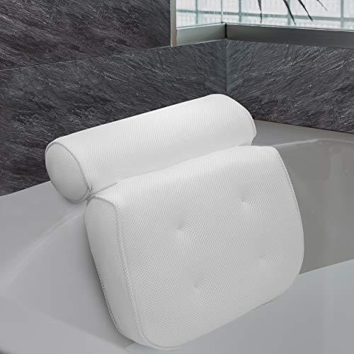 LADICO ® Premium Badewannenkissen - Mit praktischem Haken zum Aufhängen - Innovatives geruchsneutrales Material - Zuverlässiger Halt Dank starken Saugnäpfen - Höchster Komfort Dank optimaler Form