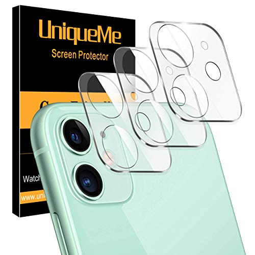 [ 3 Pack ] UniqueMe Camera Lens Protector for iPhone 11 Tempered Glass [High Definition] Scratch Resistant 6.1'