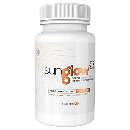 Sunglow Abbronzatura Alto Dosaggio - Formula con L-Tirosina,...